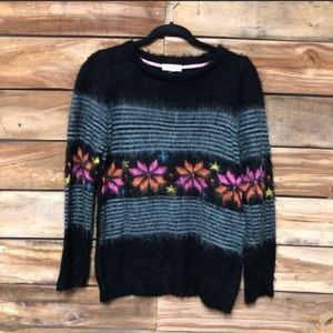 Taylor & Sage fuzzy floral sweater